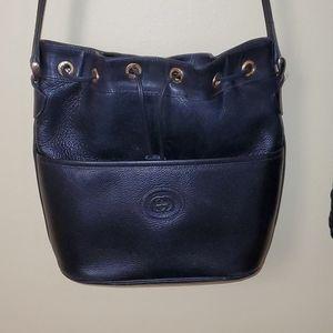 Black leather vintage gucci bag